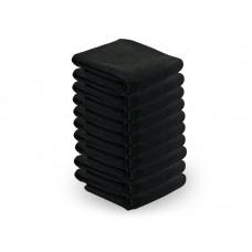 30823. Mikroszálas törölköző 73x40 cm 10 db/csomag FEKETE