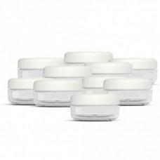 Tégely 30 ml víztiszta műanyag 10 db/csomag